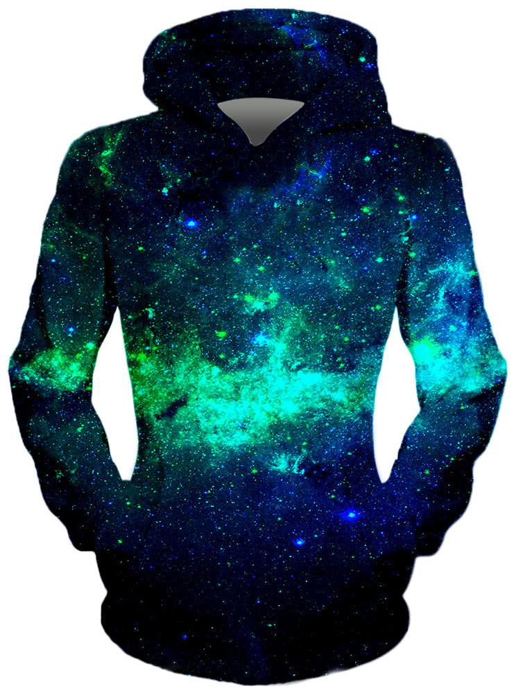 Green Galaxy Hoodie, Different Type, On Cue Apparel - Epic Hoodie