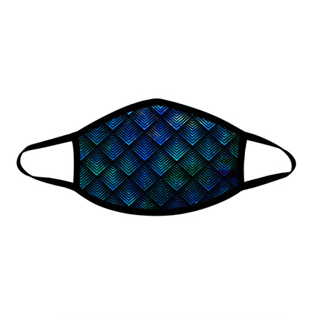 Noctum X Truth - Galactic Dragon Scale Teal Cloth Face Mask