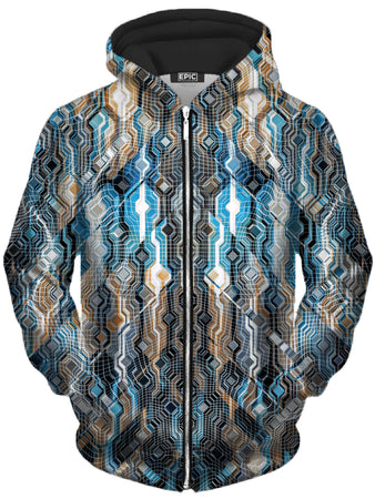 Glass Prism Studios - Fractional Data Unisex Zip-Up Hoodie