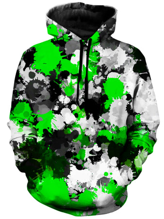 Big Tex Funkadelic - Green and Grey Paint Splatter Unisex Hoodie
