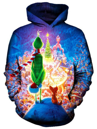 On Cue Apparel - Christmas Grinch Hoodie