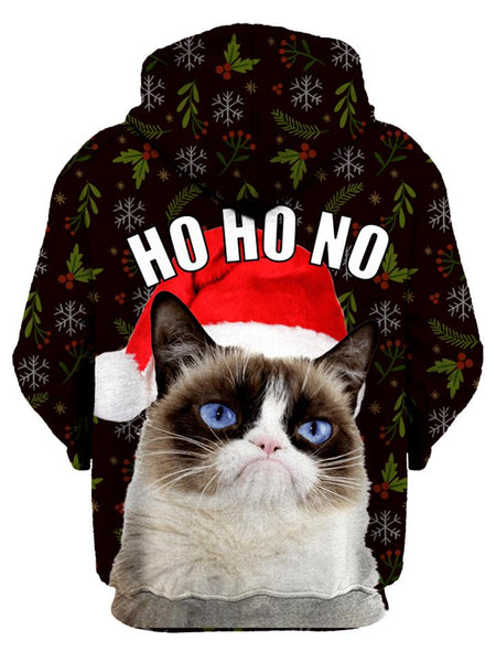 Details about  /Funny Grumpy Cat Holiday Graphic Sweatshirts Unisex Black Pullover Sweater
