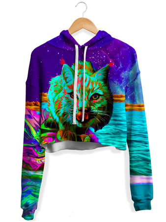 Heather McNeil - Neon Wonderland Crop Hoodie