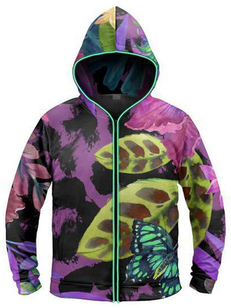 Light Up Hoodies - Jungle Butterfly Light-Up Hoodie
