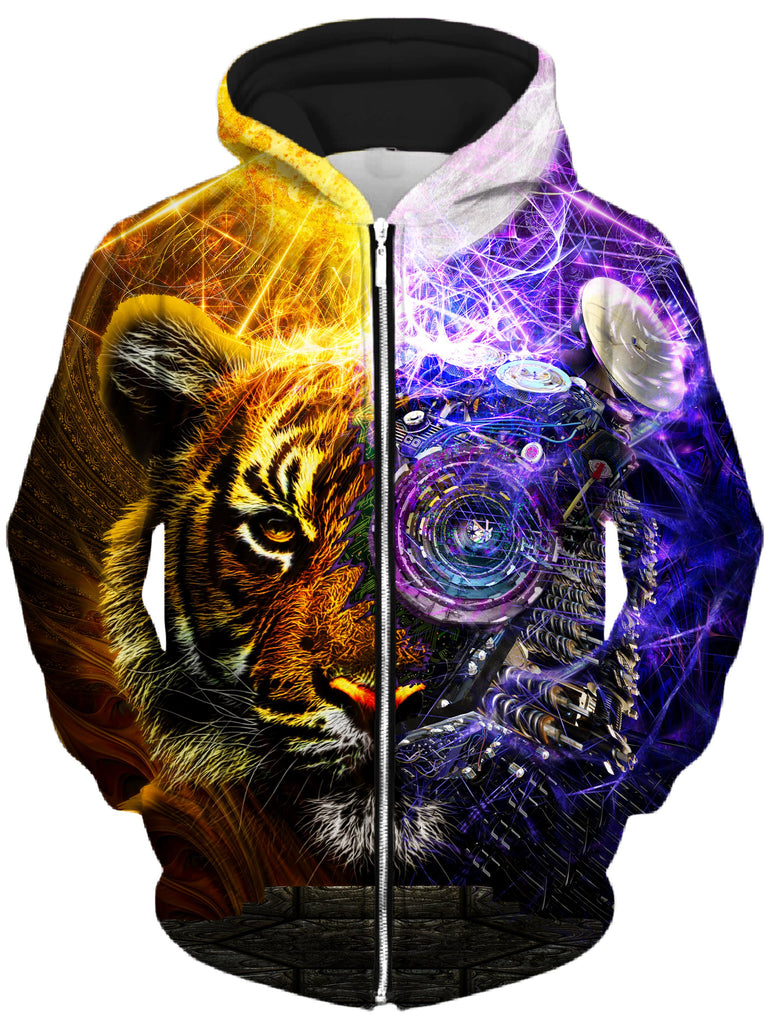 Lucid Eye Studios - Bionic Tiger Unisex Zip-Up Hoodie