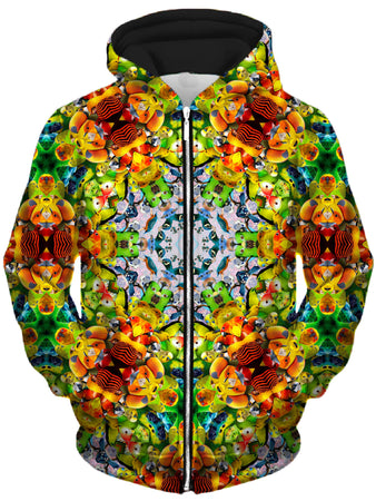 Lucid Eye Studios - Bird Kalied Unisex Zip-Up Hoodie