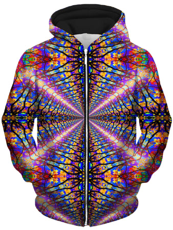 Lucid Eye Studios - Color Tunnel Unisex Zip-Up Hoodie