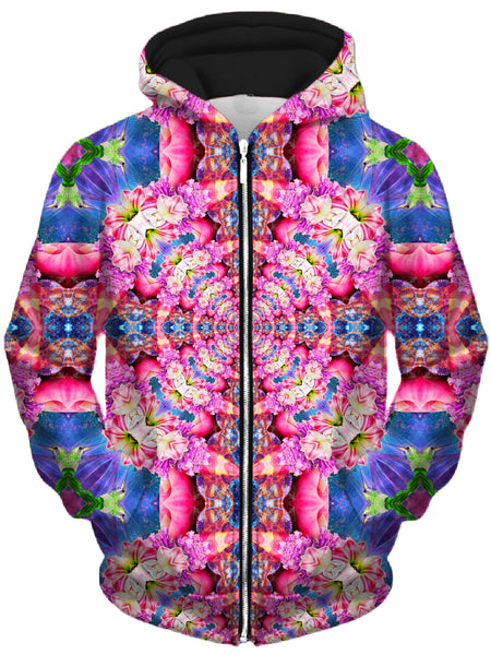 Lucid Eye Studios - Flourish Unisex Zip-Up Hoodie