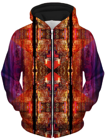 Lucid Eye Studios - Future Giza Unisex Zip-Up Hoodie