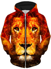 King of the Jungle Unisex Zip-Up Hoodie, Lucid Eye Studios, T6 - Epic Hoodie