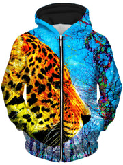 Prowling Paws Unisex Zip-Up Hoodie