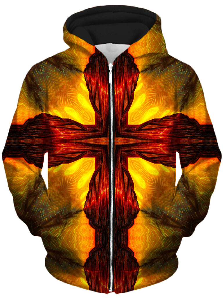 Lucid Eye Studios - Psychic Cross Unisex Zip-Up Hoodie