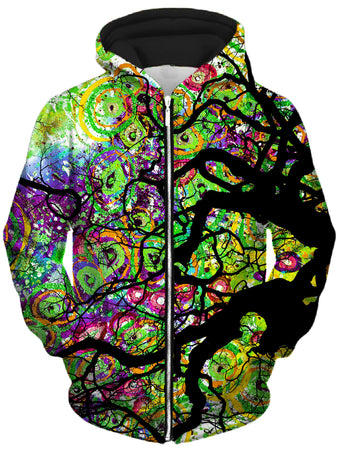 Lucid Eye Studios - Radial Roots Unisex Zip-Up Hoodie