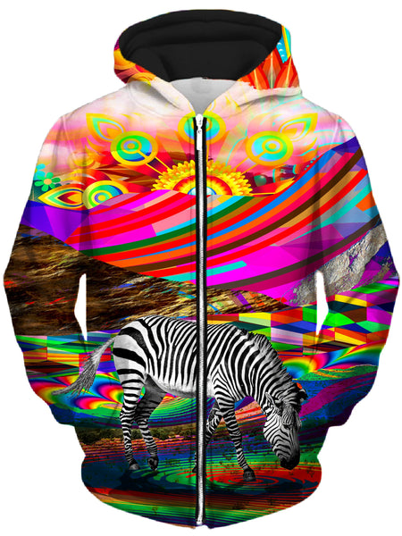 Lucid Eye Studios - Rainbow Land Unisex Zip-Up Hoodie