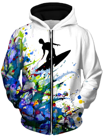 Marc Allante - A Pollock's Point Break Unisex Zip-Up Hoodie