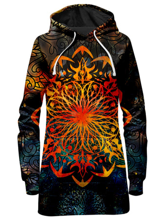 MCAshe Spiritual Art - Fire Ornament Hoodie Dress