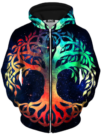 MCAshe Spiritual Art - Tree of Life Unisex Zip-Up Hoodie
