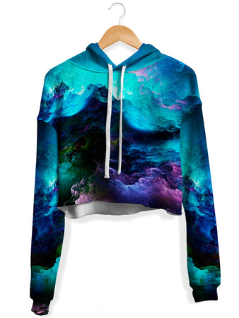 Noctum X Truth - Dream Waves Fleece Crop Hoodie