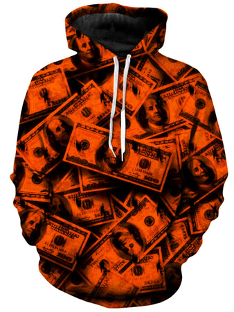 Big Tex Funkadelic - Orange Grunge Money Unisex Hoodie