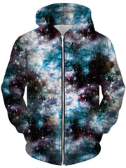 Party God Galaxy Unisex Zip-Up Hoodie