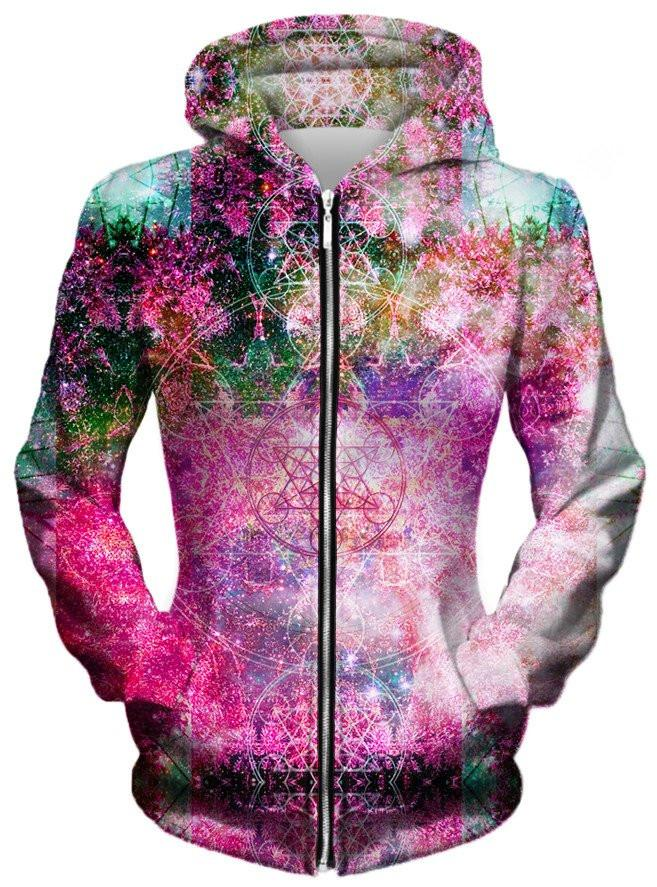 Pineal Metatron Galaxy Unisex Zip-Up Hoodie, Different Type, Set 4 Lyfe - Epic Hoodie