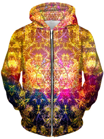 Set 4 Lyfe - Pineal Metatron Unisex Zip-Up Hoodie