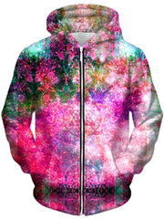 Pineal Metatron Galaxy Unisex Zip-Up Hoodie