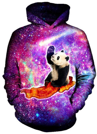 On Cue Apparel - Pandas UFO Bacon Hoodie