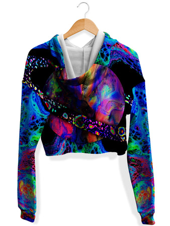 Psychedelic Pourhouse - Planetx Fleece Crop Hoodie