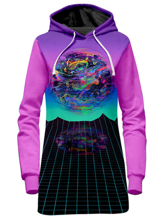 Psychedelic Pourhouse - Psychedelic Outrun Hoodie Dress