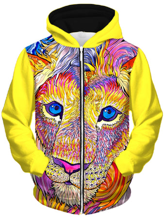 Rachel Rosenkoetter - Kaleidoscopic King 1 Unisex Zip-Up Hoodie