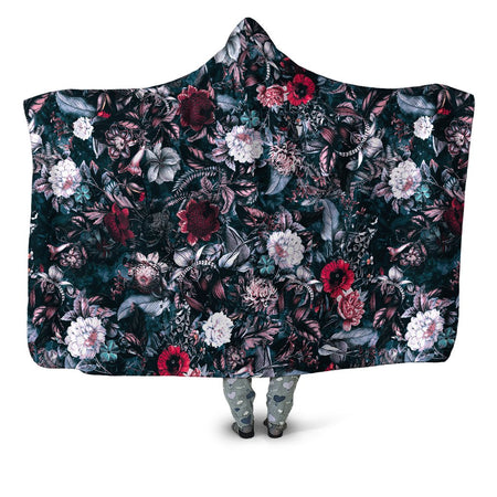 Riza Peker - Blue Garden Hooded Blanket