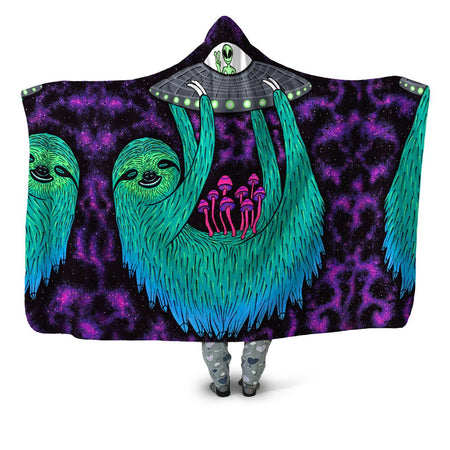 Set 4 Lyfe - Sloth Abduction Hooded Blanket