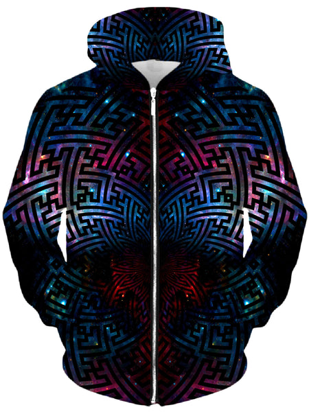 Set 4 Lyfe - Sacred Sayagata Galaxy Unisex Zip-Up Hoodie