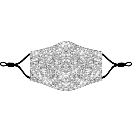 iEDM - Silver Sequin Cloth Face Mask