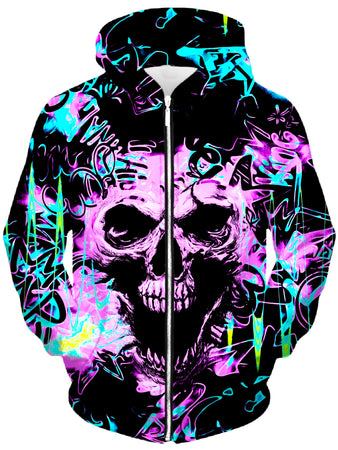 Big Tex Funkadelic - Skull Graffiti Unisex Zip-Up Hoodie