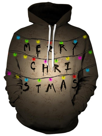 Christmas - Stranger Things Lamps Unisex Hoodie