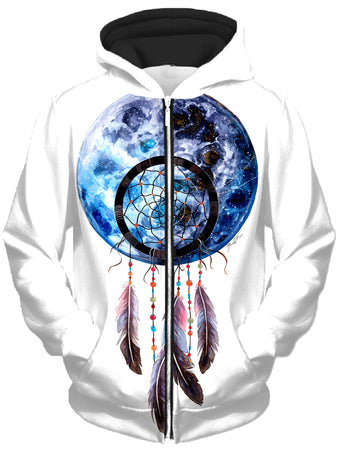 Svenja Jodicke - Moon Catcher Unisex Zip-Up Hoodie