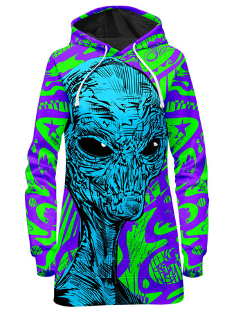 Technodrome - Alien Hoodie Dress