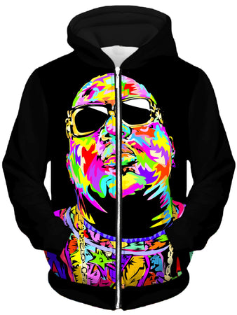 Technodrome - Biggie Drome Unisex Zip-Up Hoodie