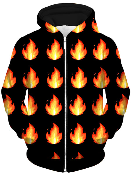 Technodrome - Burn Unisex Zip-Up Hoodie