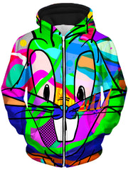 That's All Folks Unisex Zip-Up Hoodie, Technodrome, T6 - Epic Hoodie