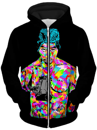 Technodrome - Tupacalypse Drome Unisex Zip-Up Hoodie