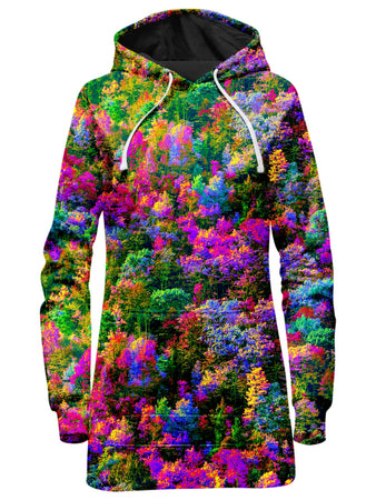 Think Lumi - Psychedelic Forest Hoodie Dress