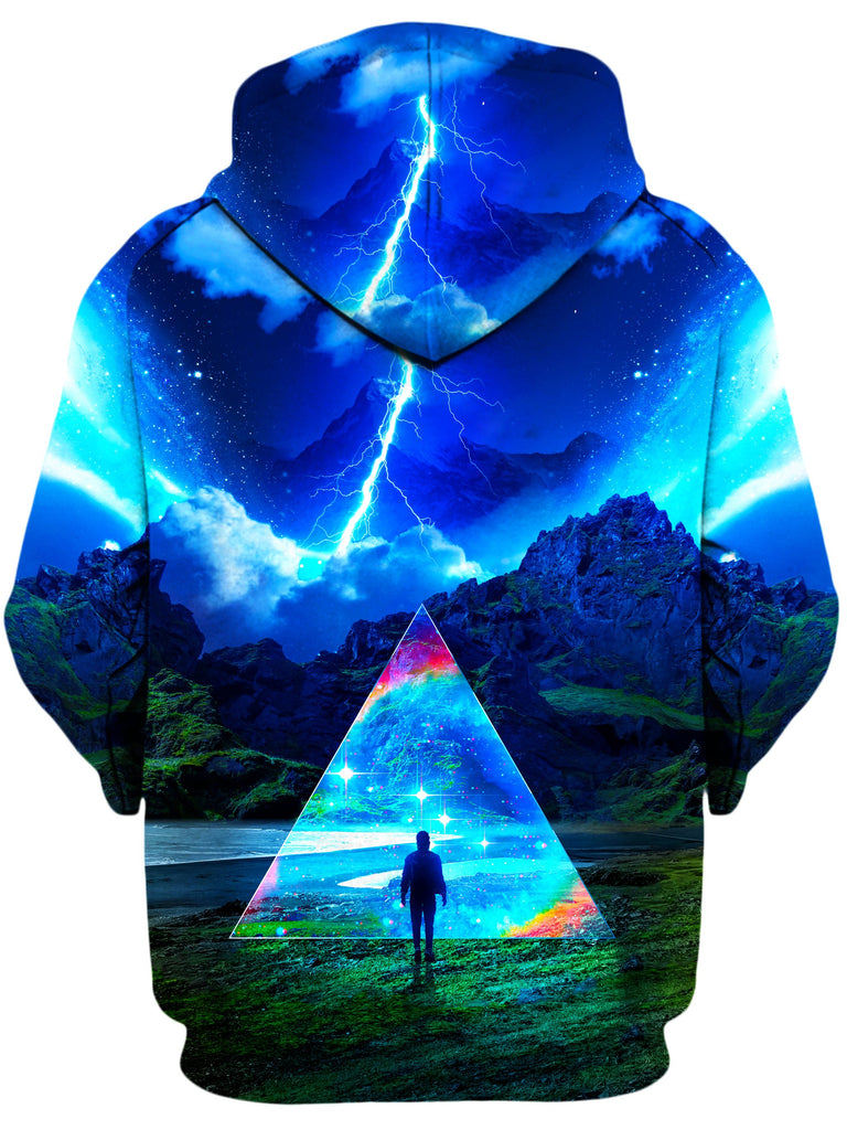 Rainbow Triangle Unisex Zip-Up Hoodie, Think Lumi, T6 - Epic Hoodie