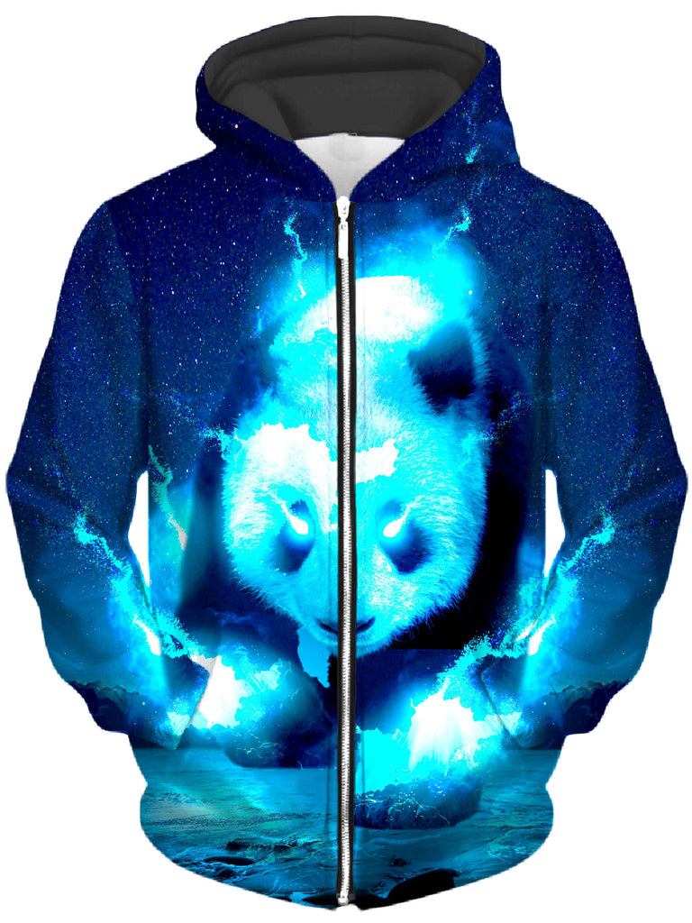 Think Lumi - Cosmic Panda Unisex Zip-Up Hoodie