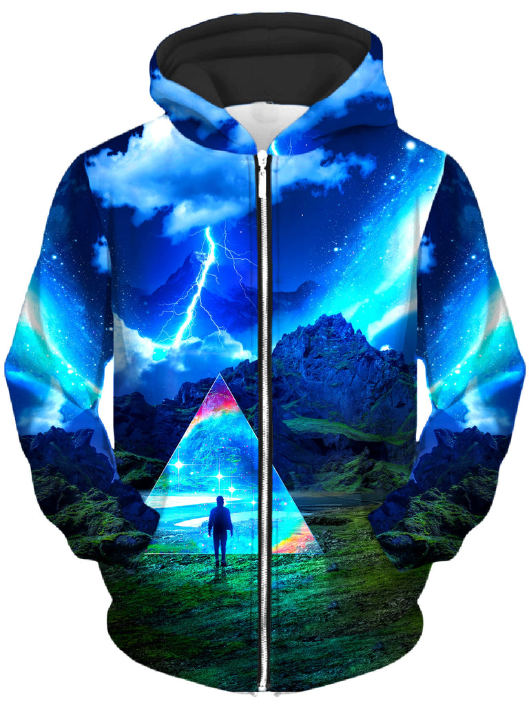 Think Lumi - Rainbow Triangle Unisex Zip-Up Hoodie