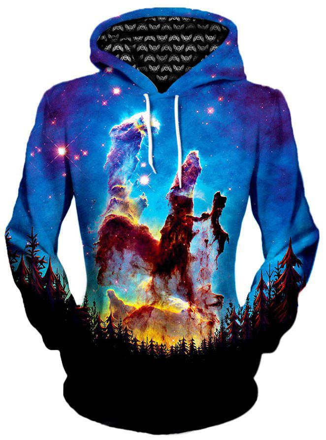 Tree Space Unisex Hoodie, Different Type, Gratefully Dyed Damen - Epic Hoodie