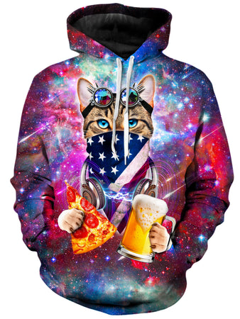 On Cue Apparel - USA Rave Cat Hoodie