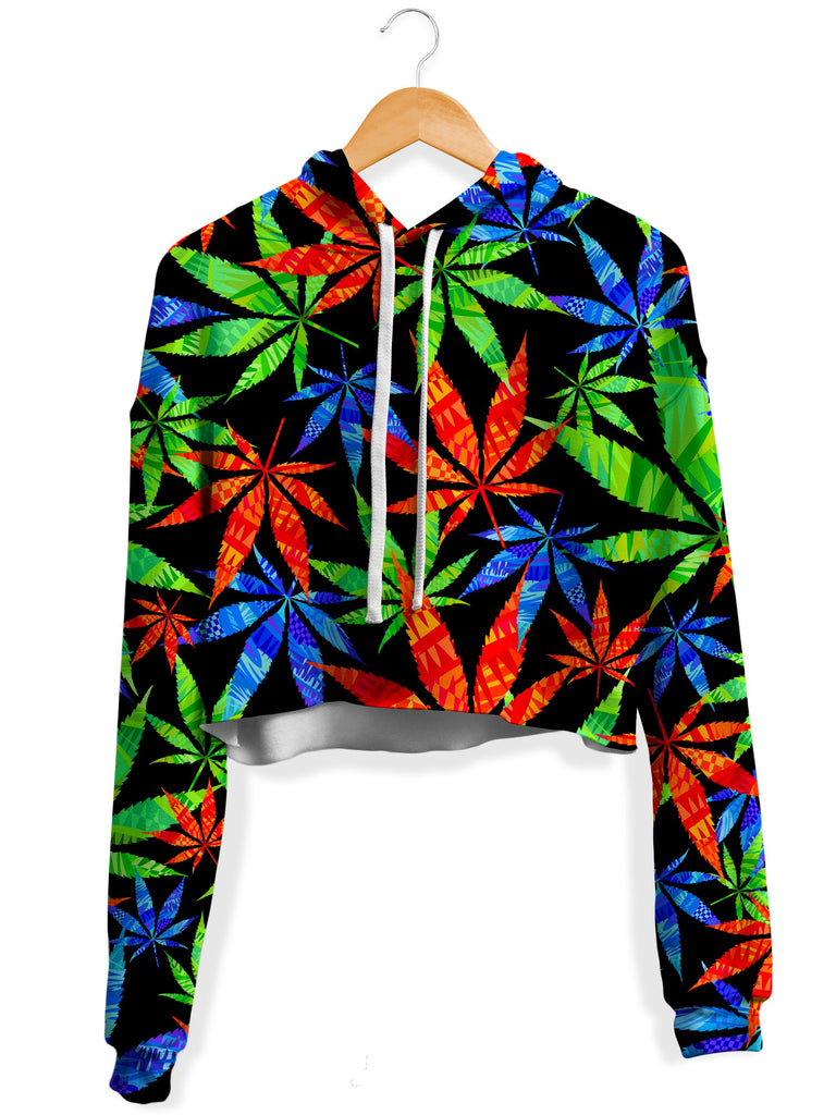 Technodrome - Weed Fleece Crop Hoodie